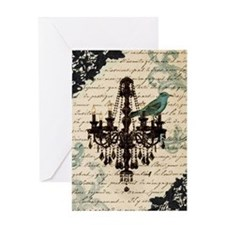 lace chandelier paris fashion Greeting Card