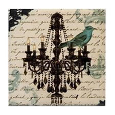 lace chandelier paris fashion Tile Coaster