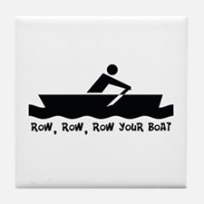 Row Row Row Your Boat Tile Coaster