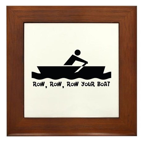 Row Row Row Your Boat Framed Tile