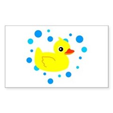 Cute Yellow Rubber Ducky on Water Heart Decal