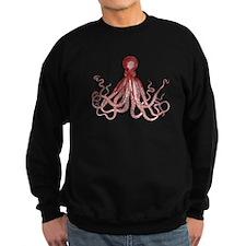 Burgundy Octopus Sweatshirt