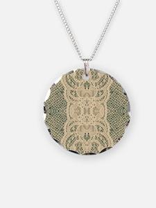 burlap lace fashion Necklace