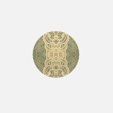 burlap lace fashion Mini Button