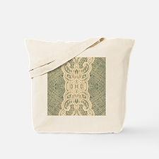 burlap lace fashion Tote Bag