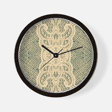 burlap lace fashion Wall Clock