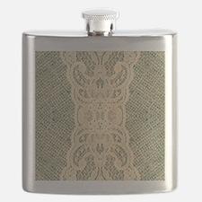 burlap lace fashion Flask