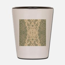 burlap lace fashion Shot Glass