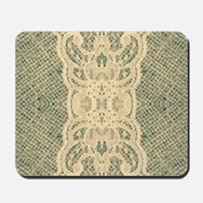 burlap lace fashion Mousepad