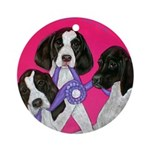 GSP Puppies Rule Ornament (Round)