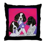GSP Puppies Rule Throw Pillow