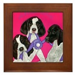 GSP Puppies Rule Framed Tile