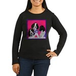 GSP Puppies Rule Women's Long Sleeve Dark T-Shirt