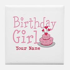 Birthday Girl - Customized Tile Coaster