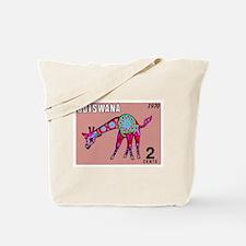1970 Botswana Giraffe Art Postage Stamp Tote Bag