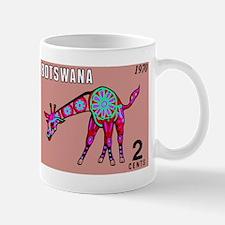 1970 Botswana Giraffe Art Postage Stamp Mugs