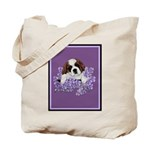 St. Bernard Puppy with flower Tote Bag
