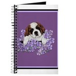 St. Bernard Puppy with flower Journal