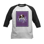 St. Bernard Puppy with flower Kids Baseball Jersey