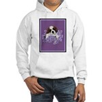 St. Bernard Puppy with flower Hooded Sweatshirt