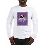 St. Bernard Puppy with flower Long Sleeve T-Shirt