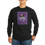 St. Bernard Puppy with flower Long Sleeve Dark T-S