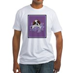 St. Bernard Puppy with flower Fitted T-Shirt