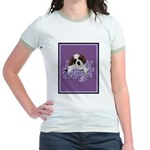 St. Bernard Puppy with flower Jr. Ringer T-Shirt