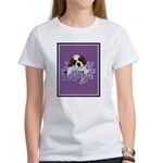 St. Bernard Puppy with flower Women's T-Shirt