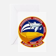 STS-51G Discovery Greeting Cards (Pk of 10)