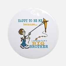 I Am Going to be a Big Brother Ornament (Round)