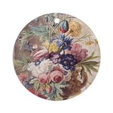 Flower Still Life by Jan van Huysum Round Ornament