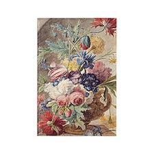 Flower Still Life by Jan van Huys Rectangle Magnet