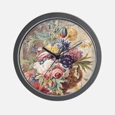 Flower Still Life by Jan van Huysum Wall Clock
