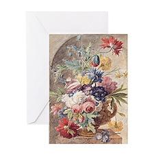 Flower Still Life by Jan van Huysum Greeting Card