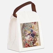 Flower Still Life by Jan van Huys Canvas Lunch Bag