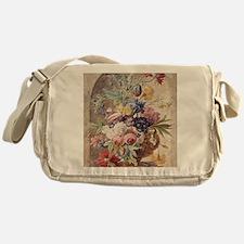 Flower Still Life by Jan van Huysum Messenger Bag