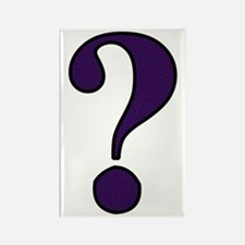 Question Mark Rectangle Magnet