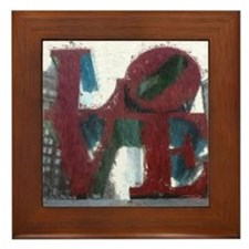 All You Need Is Love Framed Tile