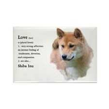 Shiba Inu Love Rectangle Magnet (10 pack)