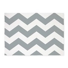 Gray and White Chevron! 5'x7'Area Rug