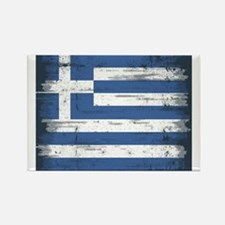 Vintage Greek Flag Rectangle Magnet