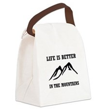 Better In Mountains Canvas Lunch Bag