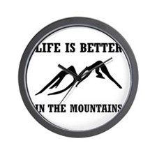 Better In Mountains Wall Clock