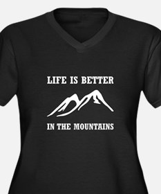 Better In Mountains Plus Size T-Shirt