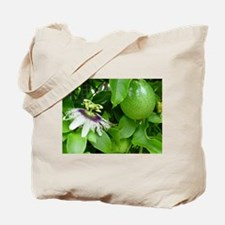 Passion Fruit and Flower Tote Bag