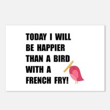 Bird With French Fry Postcards (Package of 8)