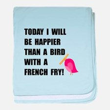 Bird With French Fry baby blanket