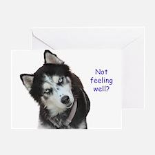 Siberian Husky Get Well Greeting Cards