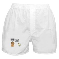 Chicken Cat Black Boxer Shorts
